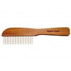 Show Tech Wooden Poodle Comb 23cm Rosewood Comb